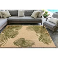 Casual and comfortable care, the palm leaf rug is a perfect decorating solution either indoors or outdoors. Wilton has woven of 100% polypropylene fibers; it can be hosed off for easy cleaning. Threads are UV stabilized to minimize fading. Wilton woven of weather-resistant polypropylene, this flatwoven collection has subtle and natural beauty. This is no need to sacrifice style with this versatile rug. The low-profile nature of Bradly offers a casual, lifestyle look to use nearly anywhere...