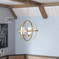 Greet guests with a warm and welcoming glow in the entryway or dress up your dining room for an upcoming dinner party with this eye-catching chandelier. The perfect pick for any contemporary space, this eye-catching piece showcases an open globe-inspired frame made from metal awash in a solid polished finish. Plus, it's designed to live in damp environments – making it the perfect pick for a steam-filled bathroom after a refreshing shower.