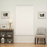The Cordless Semi-Sheer Pleated Shade is a beautiful, cordless window treatment suited for any room in the home. This lightweight, privacy window covering is easy to adjust by simply holding the bottom rail and then gently raising or lowering the shade by hand. This pleated shade is available in a variety of soft neutral colors including ecru, camel, white, and silver-gray, and made to fit most standard windows.