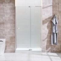 It's smooth sailing with the shower collection, thanks to its innovative adjustable hinge and jamb system that conquers awkward out-of-plumb shower walls. A modern frameless glass shower door, eye-catching chrome hardware, and a stylish pull handle anchor its contemporary good looks. DIY-friendly, with simple installation.