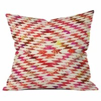 Multicolor throw pillow with a Southwestern-inspired design by artist Bianca Green for East Urban Home. Made in the USA.