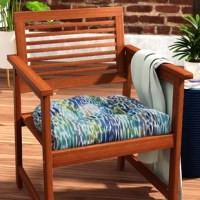 This Make It Rain Cerulean Outdoor Rocking Chair Cushion with its painterly feel was inspired by raindrops. This delightful tufted seat cushions will instantly enliven and update your outdoor patio decor. Suitable for outdoor and indoor use.