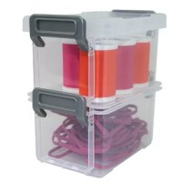 The perfect small storage solution. Great for craft supplies, screws and bolts, hair accessories, small toys and more. Use in the office, craft room, garage, bathroom, bedroom, dorm - the possibilities are endless.