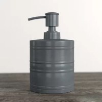 Lending an eye-catching focal point to your bathroom ensemble while holding onto your hand soap or lotion of choice, this dispenser is a must-have for your home! Crafted from metal, it showcases raised horizontal accents for a touch of texture, while a neutral oil rubbed bronze finish complements nearly any color palette. Measuring 8.5'' H x 3'' W x 3'' D, it's designed to accommodate up to 10 oz. of any hand soap or lotion of your preference!