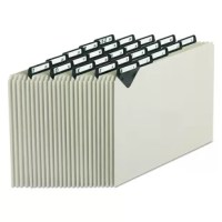These file guides will last for years! Excellent for active use, these durable guides feature steel tabs and heavy-duty 25 pt. pressboard. Keep your files organized and in shape. Preprinted with A-Z to simplify filing. Manufacturer's lifetime guarantee.