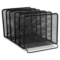 Contemporary mesh stacking sorter adds style while helping you make the most of your valuable desktop space. Provides five sections for file folders, books, notepads, and more. Stacks on top of Stacking Side Load Letter Tray, sold separately. Desktop File Folder Sorter Type: Vertical File Sorter; Global Product Type: Desktop File Folder Sorters; Number of Compartments: 5; Material(s): Mesh Metal.