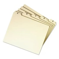 Break your file drawers into easily-spotted smaller groups with these alphabetical, daily and monthly indexed sets. Preprinted top tabs in assorted positions.