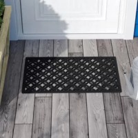 Bring the style and beauty of your home to your door. Help your guests feel welcome before they step inside. This door mat deep molded and built to withstand all seasons and weather conditions. The luxurious, deep raised grooves can be used to remove debris and dirt from your shoes.