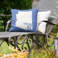 This throw pillow brings a dynamic feel to your outdoor decor theme perfectly accenting your deck, patio, or pool seating. Made with a water and UV resistant material, this durable pillow can serve both stylish and functional purposes.