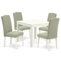 Borgey 5 Piece Solid Wood Dining Set