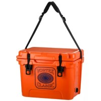 Durability and ease of use are the driving factors behind the design of every cooler. This classic series model features a shoulder strap and an ergonomically-correct offset mounting point to make hauling your icy-cool beverages to the beach, boat, or ball field a breeze. Built to take a beating and shrug it off, the ultra-tough rotational molded construction and structurally reinforced insulating foam ensure reliable performance for years to come. No need to worry about broken latches and...