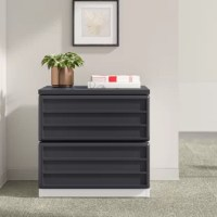 Unlike vertical files, lateral files provide even more surface up top to host office essentials, like a coffeemaker, bins for papers that need attention, and more. This file cabinet measures almost 30'' W, giving you the space you need. Crafted from manufactured wood and PVC, this design's two fully-extendable drawers have room for letter-sized documents and archives: up to 30 lbs. per drawer! Full assembly is required for this file cabinet.