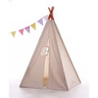 This teepee is made of durable 100% cotton canvas. All seams, raw fabric edges, and openings are reinforced for safety, durability and years of play. Unique American native teepee tent is four walls wooden frame design, the pole is solid timber and it has a smooth finish. This is a 2 teepee bundle.