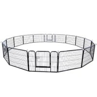 The design of rounded edges keep your pet safe. The playpen is suitable for dog,puppy, duck and rabbit etc a variety of small animals: hedgehogs, hamsters, guinea pigs or rabbits, all of whom can have fun in this fence. Easy to pay attention to from any angle