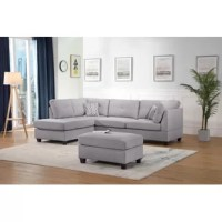 Upholstered in a blend of smooth texture and colors, this sectional defines any living space with a well-crafted furnishing for your home. You could place the book, drink or food on the ottoman whenever you need to.