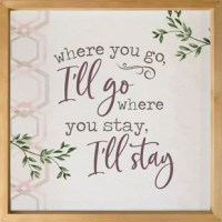 Uniquely crafted, this sign features a soft, textured backing overlaid with elegant design and sentiment. The texture adds depth and light shadowing. Deep frames allow for wall hanging or tabletop display.