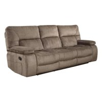 Give everyone in the house the opportunity to put their feet up with this stylish Manual Triple Reclining Sofa. With three plush reclining seating sections, it makes every night seem like movie night.