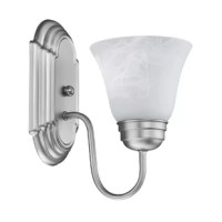 This 1-light wall sconce shines with its simple design and clean lines giving off a modern feel.