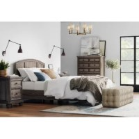 Create a compelling and cohesive aesthetic in your arrangement with this bedroom set – which includes a bed, nightstand, and a dresser. Crafted from solid and manufactured wood, the bed arrives with a slat kit included for your convenience, while paneled detailing and bun feet gives it a traditional touch. An array of drawers on the dressers and nightstand allow you to tuck away any loose clothing and before-bed essentials, while a gray wash hue offers up some aged appeal.