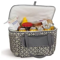 This item with a fully insulated, leak-proof liner. Ergonomically designed carry handles make it easy to carry this insulated cooler to the beach, pool or park. Stylish design with a zippered top, expandable front pocket, and side mesh pockets hold plenty of food, drinks, and snacks for your outing.