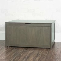 Keep your child's room tidy and organized with the durable and spacious forever eclectic toy box. Designed with children's safety in mind, it features wood construction with a non-toxic finish and standard ventilation holes, smooth edges, and child-safe closure with safety lid supports. The toy box is a perfect addition to playrooms, nurseries, and bedrooms. Mix and match with other forever eclectic pieces to create a look that's individually inspired and uniquely yours.