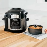 The pressure cooker that crisps. Tender crisp technology lets you quickly go from frozen to crispy in as little as 20 minutes. The stainless steel finish and enhanced user interface provide the most premium Foodi experience yet.