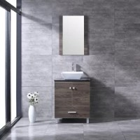 An attractive collection of cabinetry is crafted from durable medium density fiberboard and covered with special lacquer wood. It's the luxury design that will surely brighten your bathroom and add value to your property.