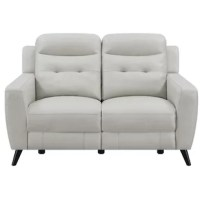 Elevate your living space with luxurious comfort. This cozy, dual reclining loveseat is perfect for kicking back and relaxing after a long day. Its smooth, top-grain leather match upholstery has a delightfully smooth texture. It's plush, padded seats are filled with soft, sumptuous memory foam for an exquisite level of comfort. A switch panel with USB completes its design with an added touch of convenience.