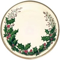 This the season to be jolly with the dinner plates. This product makes a perfect companionship with the featured holly.