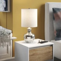 Portable and space-conscious, table lamps offer ideal mood lighting as they balance the look of any aesthetic. Small in size and big on charm, this 18.8
