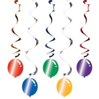 Spruce up your next birthday celebration with the item. Those hanging decorations allow you to cover all areas of your party providing your guests a celebration to remember. Each dangler features a different colored balloon and different length!