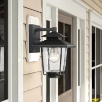 IP44 Weatherproof, ETL listed. Easy installation. Oil rubbed bronze finish, indoor/outdoor usage. Perfect for house, porch, garage, hallway, and entryway.