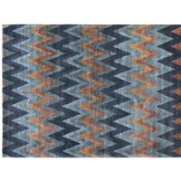 Contemporary colors for a chevron pattern across this area rug. This design will perfect for your space.