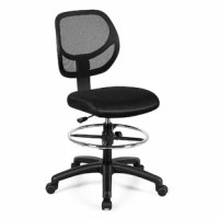 This is a brand new mid-back executive office chair which features sophisticated profile and exquisite workmanship to keep you stable and comfortable all day. The breathable mesh backrest provides ergonomic lumbar support to prevent back strain and muscle fatigue while ensuring air circulation and improving comfort. The drafting chair allows you to obtain a comfortable seated position by adjusting the seat height and footrest height. Additionally, a 360-degree swivel seat helps you better...