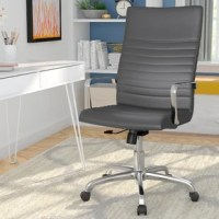 This clean-lined conference chair is ideal for giving your office an update that's as stylish as it is practical. A ribbed vinyl seat and polished aluminum arms add a contemporary touch while its tilting, adjustable design offers customizable comfort.