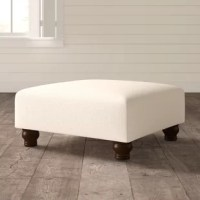 Whether a handy perch when seating's scarce or a spot to put your feet up at the end of the day, an ottoman is a versatile accent from the living room to the master suite. Take this one, for example: a great option for a coffee table stand-in, this ottoman features a wood and metal frame, and is wrapped in a linen-viscose blend upholstery. A clean-lined design and turned bun feet round this piece out with understated accents that are perfect in traditional settings. Measures 17'' H x 36'' W x...