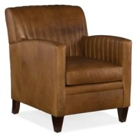 This armchair comes standard with a mahogany finish and a tight back pillow.