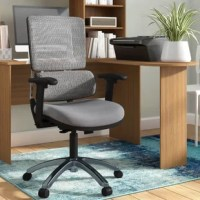 Lavish up your daily work routine with this Ergonomic Mesh Executive Chair with a breathable vertical mesh back and adjustable lumbar support. You will feel both relaxed and more motivated in the workplace. Show off your professional style with a polished base and dual wheel carpet casters for accessible mobility. Slick adjustable features and an affordable price make this an intuitive choice for any office.