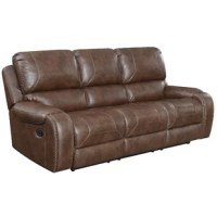 Enhance your living room with this reclining sofa. Offering comfort and style this sofa provides a tasteful experience for everyone. Rest assured, the faux leather is a perfect exterior giving it just the right amount of appeal and character. Complete your room with this sofa.