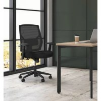 HON Crio's high back task chair gives you advanced features at a compelling price. The breathable mesh back delivers cool comfort while giving the chair a cool look, and the adjustable lumbar support enhances lower back comfort. Height and width adjustable arms put the support right where you need it, while the center-tilt recline control allows you to find the most comfortable posture. The simple, clean design combined with customizable comfort make this a great value. Mesh and seat fabric...