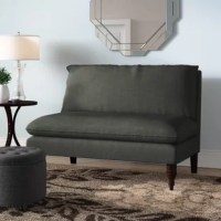 This versatile and compact Orleans Loveseat is great for additional seating no matter the size of your space. It features stylish upholstery and turned legs, as well as comfortable and plush foam padding. Manufactured in Illinois.