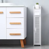 Introductions: Here is our Paper Towel Storage Narrow Cabinet 80cm High. This product has a simple line design with two compartments and space for paper towels for roll paper and toilet items. The product is made of environmentally-friendly materials and has waterproof properties. There is no need to worry about the moisture after the product has been used for a long time. The product is easy to assemble. It is suitable for small spaces in the bathroom. What is more, with fine artistry and...