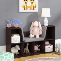 The bookcase/reading nook gives kids a sturdy spot to read their favorite stories. This fun furniture piece has plenty of storage space, and it will look great in any bedroom thanks to the variety of color choices. Now let's open up a book and let our imaginations run wild!
