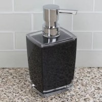 Practical for everyday use. Pretty enough to proudly display. This must-have bath accessory features a glass-like look with the resiliency of high-quality glass. This soap dispenser is geared to tough to handle falls and bumps without breaking. The modern design looks beautiful coordinates effortlessly with any décor, from traditional, modern and everything in between. Set it on the side of the sink keep hand soap right at your fingertips. Or place it on top of your bedroom dresser to...