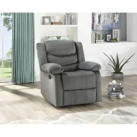 This recliner offers the perfect balance of relaxation and comfort. Soft suede fabric will be soft to the skin, and pocketed coil cushions will give premium comfort when you and your family is having a family gathering. Reclining furniture offers the best in relaxation for you to kick up your feet to watch TV, work on a laptop or to hang out with family and friends. Recliners provide high neck and lumbar support, making them the most popular seating choice for everyday use.