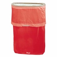 Don't worry about overflowing garbage when you have their product! This convenient trash can starts out compact but when it's party time simply pop it up and you'll be ready for any mess. The leak-resistant bag and drawstring top also make taking out the trash easy.