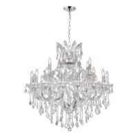This chandelier is breathtaking. With a classic and traditional style of the leaf cut crystals, elegantly lowered down by strands of octagonal crystals, this timeless piece of decor will add more than just light to your room. With its everlasting beauty, you can be sure to astonish critics of all styles and satisfy all tastes.