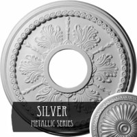 The medallion will prove to be an exquisite decorative accent for your living or the dining room. The simple yet classic design of the medallion appears stunning and adds a touch of style and elegance to it. The Gainey 13 7/8