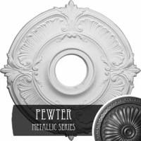The medallion will prove to be an exquisite decorative accent for your living or the dining room. The simple yet classic design of the medallion appears stunning and adds a touch of style and elegance to it. The Gailey Ceiling Medallion is made from urethane that ensures excellent quality and durability. The medallion is a part of the Gailey collection. The decorative molding will grace the center of the ceiling and enhance the room's decor.