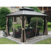 Introduce the glamour and comfort of a resort experience into your everyday life. The Dahlin Aluminum Patio Gazebo elevates your backyard, or other outdoor space, adding an element of comfort and sophistication that's certain to impress your guests. The classic design adapts well to many styles of patio furniture.